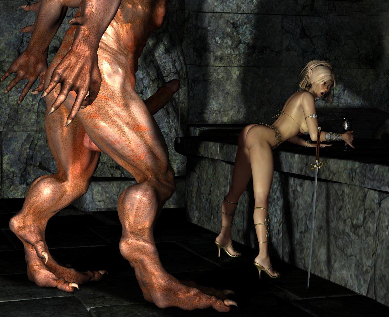 Порно Чудовища 3d